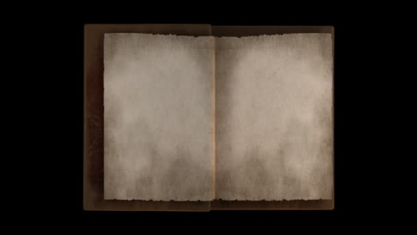 Turning pages in old book