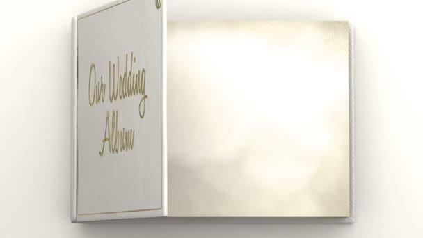 Esküvői album-val üres oldalak