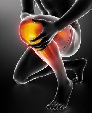 Man knee injured