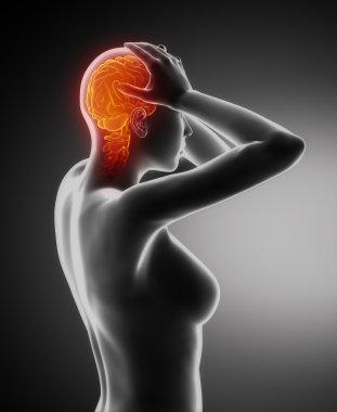 Headache migraine concept