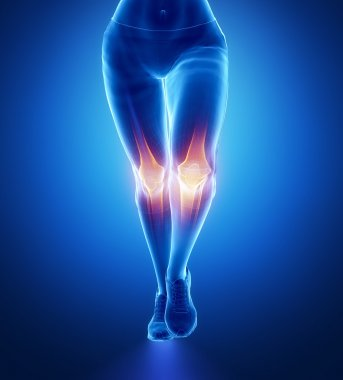 Injured knees with highlights