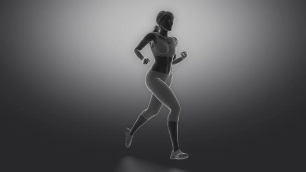 Běžící žena zaměřil na kosti