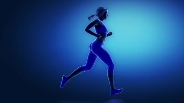 Běžec kotník animace