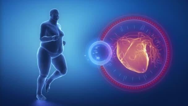 Overweight man heart issue