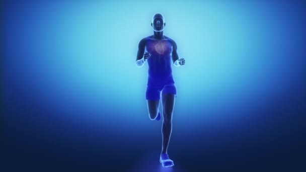 Running man withheart scan