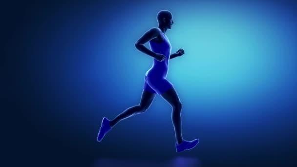 Běžec pánev animace