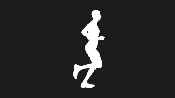 Běžící muž ve smyčce