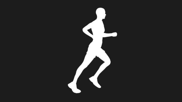 Běží nahý muž ve smyčce