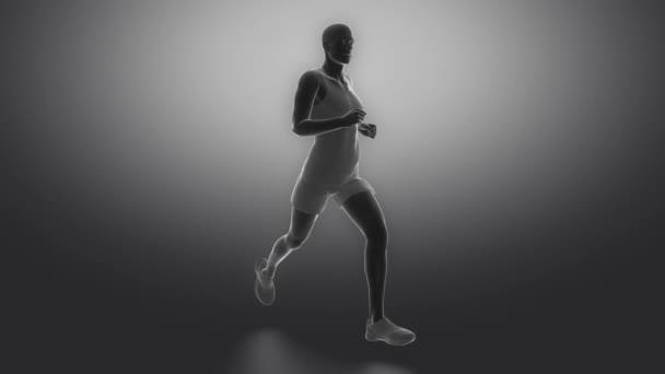 Běžící muž v akci