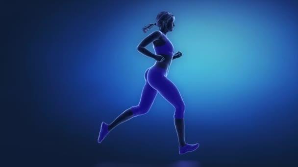 Běžec holenní animace