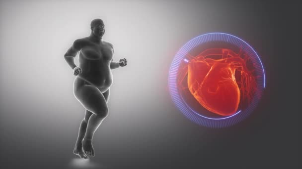 Overweight man heart issue