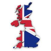 UK mapa tvar Union Jack vlajka