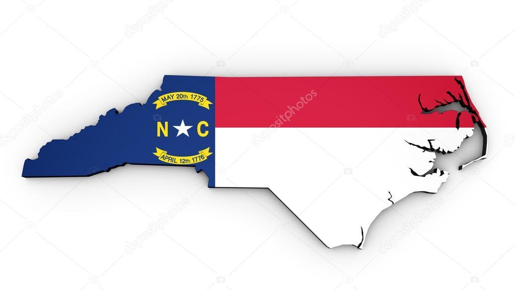 North Carolina State Flag Map — Stock Photo © NiroDesign #107391742