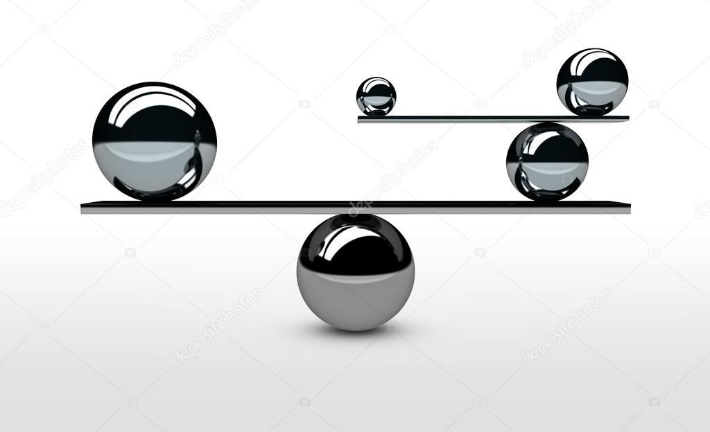 Merveilleux Concept Du0027équilibre Parfait Système Du0027équilibrageu2013 Images De Stock Libres  De Droits
