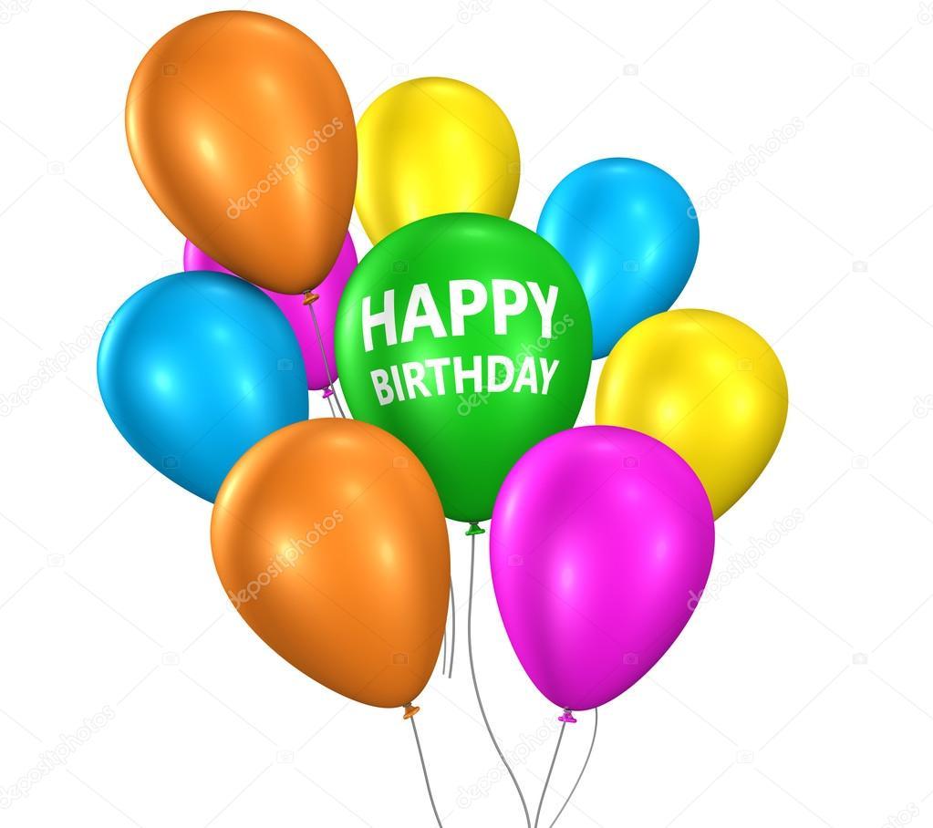 Gelukkige Verjaardag Partij Ballonnen Stockfoto C Nirodesign