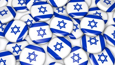 Israel Flag Pin Badges Background