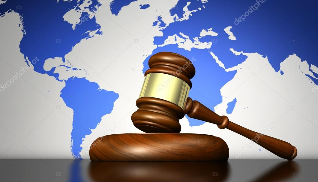 Concepto de Derecho Internacional y Justicia — Fotos de