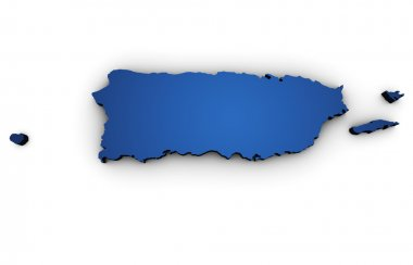 Map Of Puerto Rico 3d Shape
