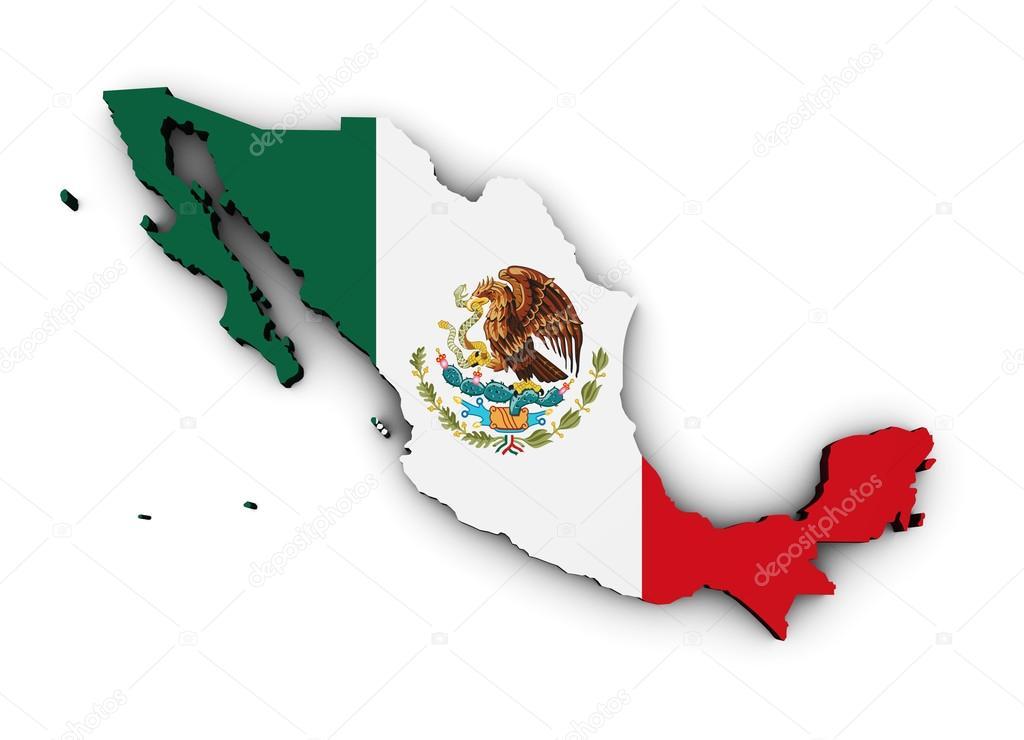 Mapa De La Bandera De México
