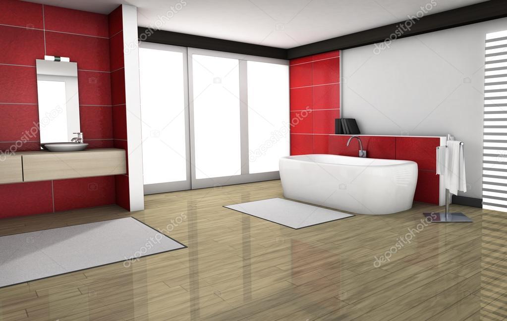 Bagno con piastrelle di granito rosso foto stock nirodesign 68476481 - Stock piastrelle bagno ...