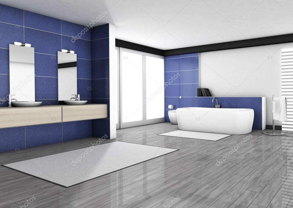 Salle de bain design contemporain — Photographie NiroDesign ...