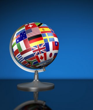 International Business World Flags School Globe