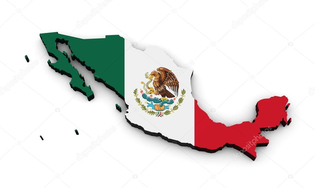 Mexico Flag Map Shape Stock Photo Nirodesign 75694625