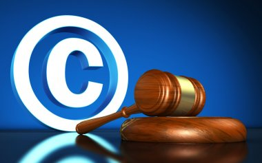 Copyright Laws Symbol Concept