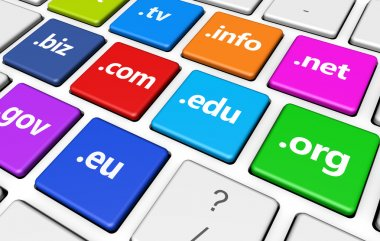 Domain Name Sign Concept