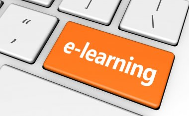 Elearning Web Banner Key Concept