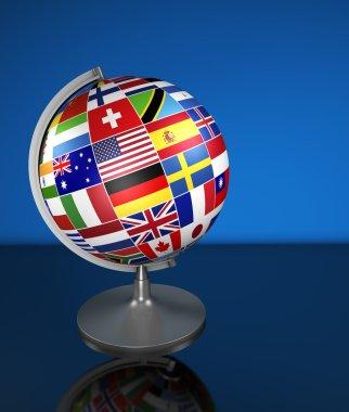 International Business School Globe Flags