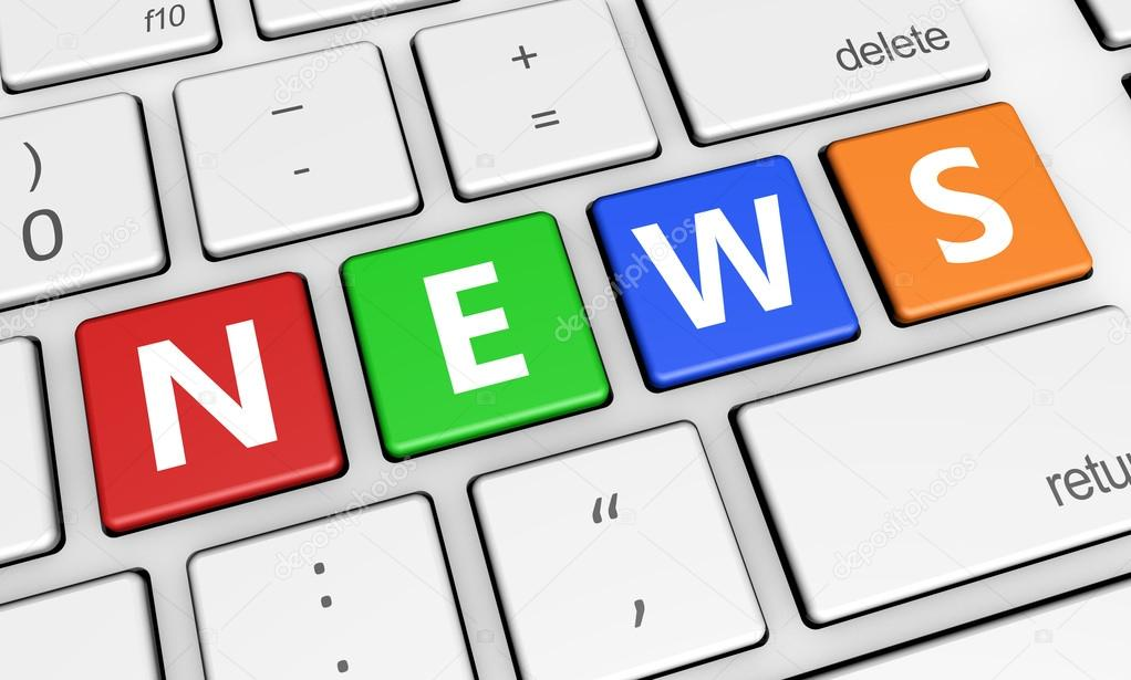 News Sign On Keyboard