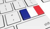 Photo France Flag On Computer Key