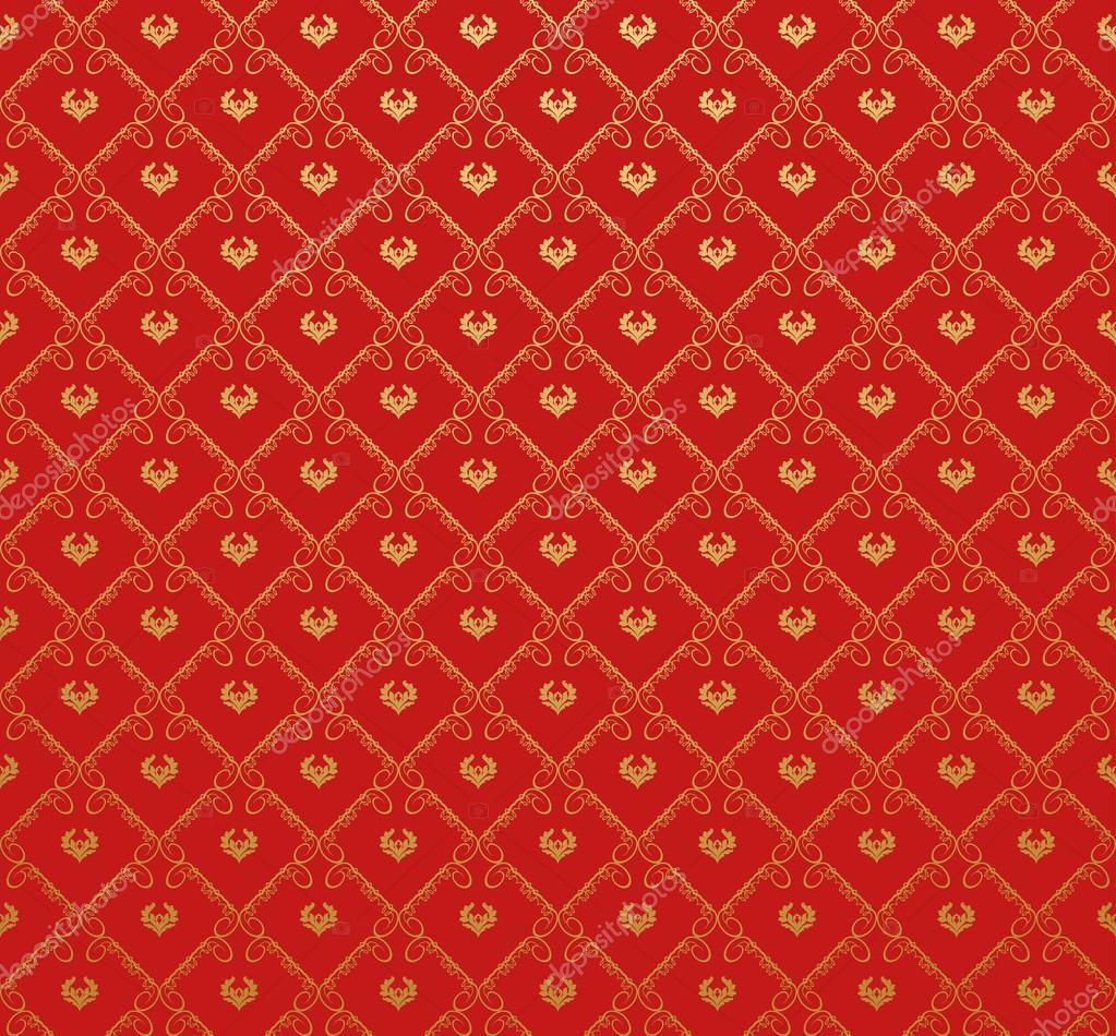 retro tapete muster rot stockvektor kio777 69323403. Black Bedroom Furniture Sets. Home Design Ideas