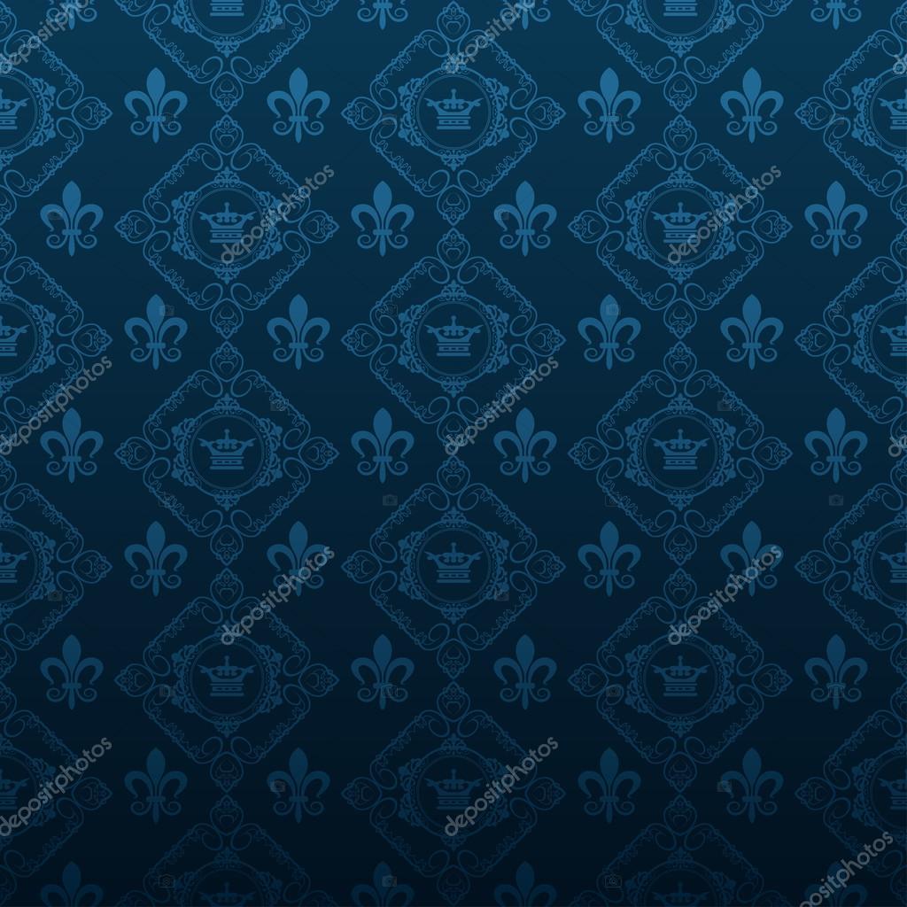 Muito Real papel de parede plano de fundo azul escuro — Fotografias de  ZX45
