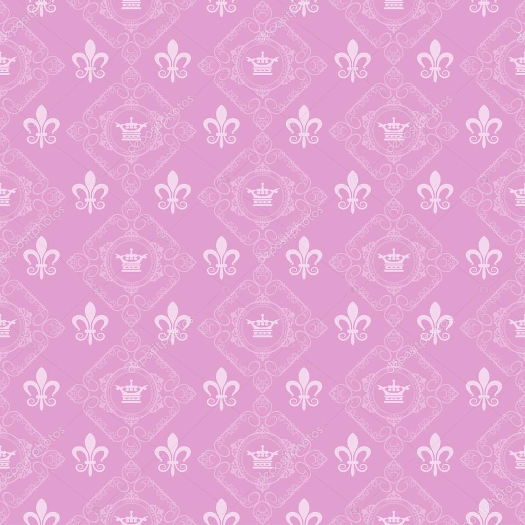 Royal Wallpaper Pink Stock Vector