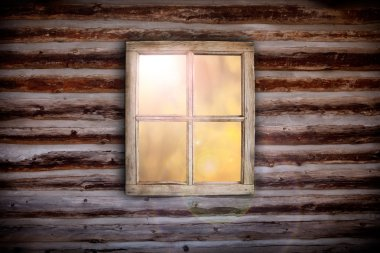 Morning light through cabin window