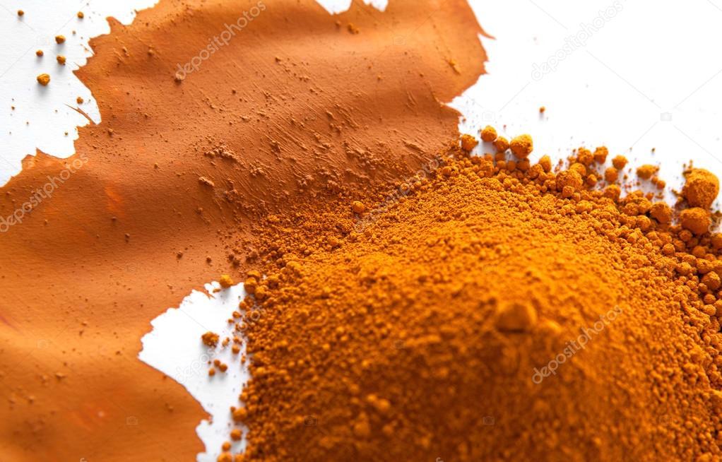 Ochre, a natural earth pigment