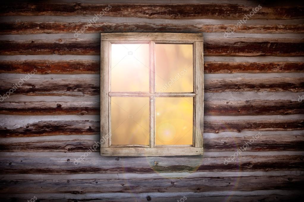 Morning light through cabin window
