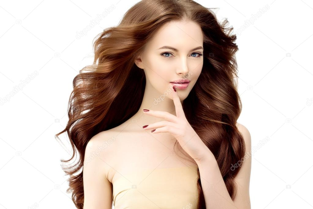 Woman Model With Long Wavy Hair Waves Curls Hairstyle Hair Sal