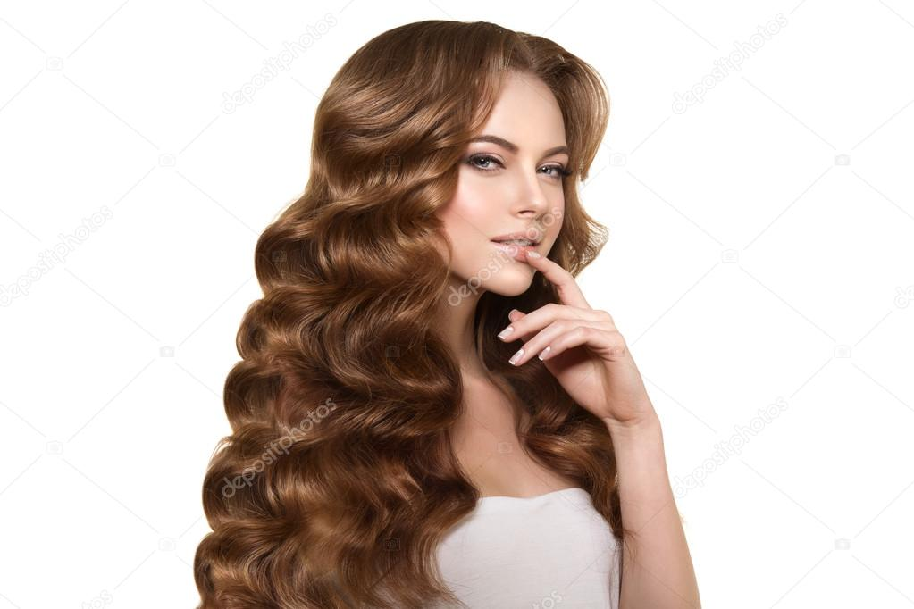 Langes Haar Wellen Locken Frisur Friseursalon Updo Mode Modus