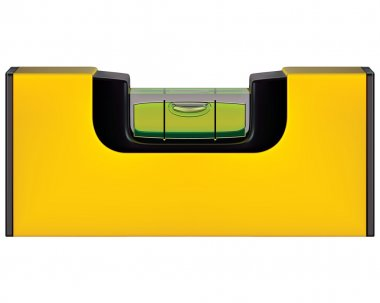 Yellow spirit level isolated on white. Vector illustration