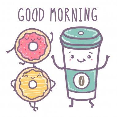 Vector illustration - Good morning.