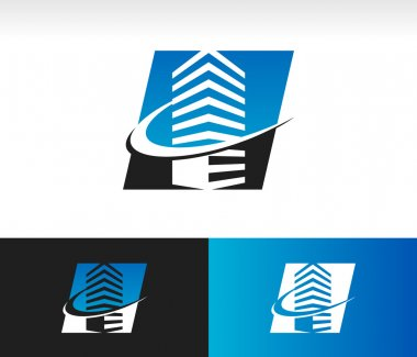 Swoosh Modern Building Icon