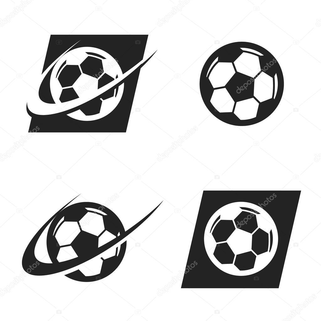 swoosh soccer ball logo icon stock vector mictoon 68162879