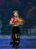 Čínská Tibetská etnický tanec