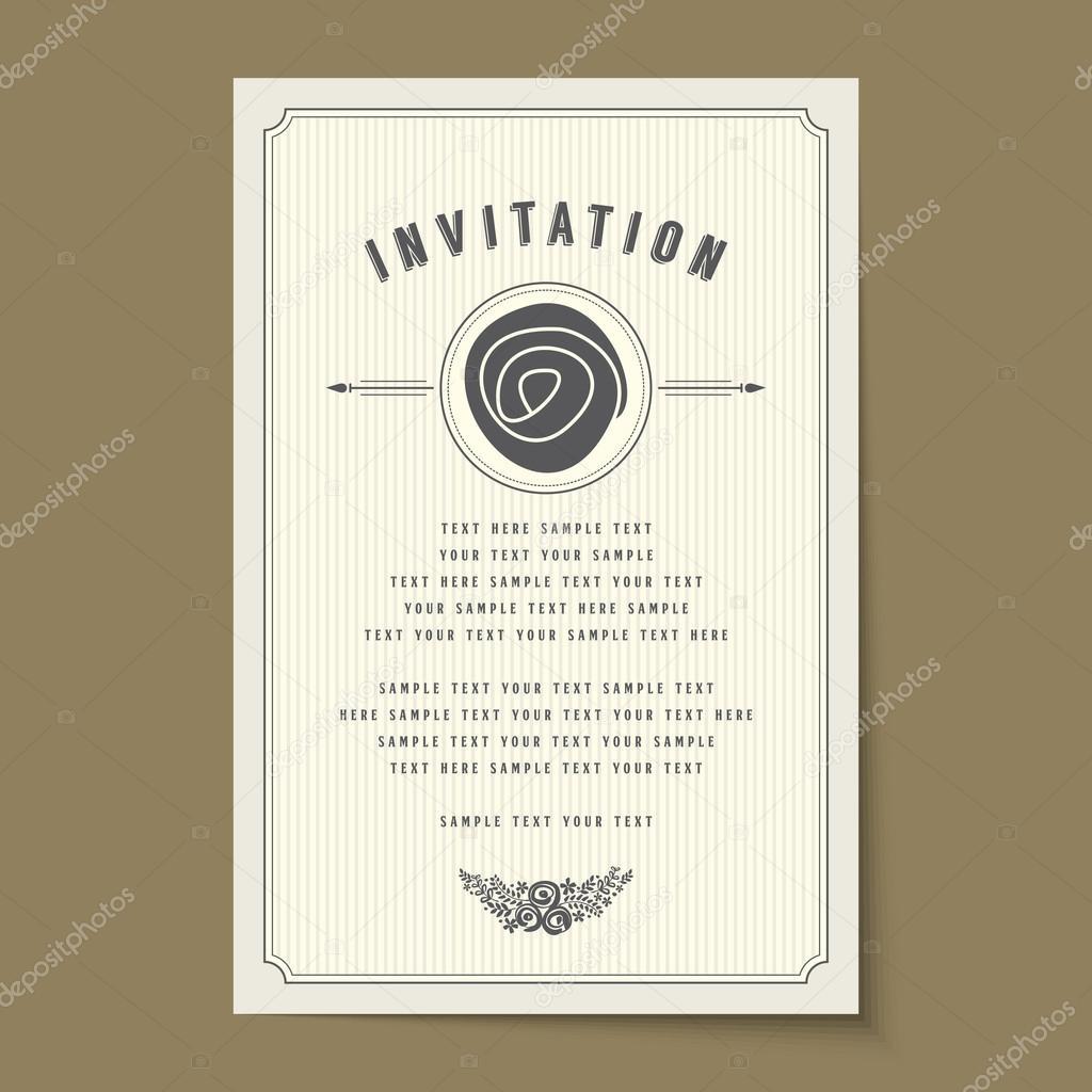 Zaproszenie Wzór Karty Układ Grafika Wektorowa Arrtfoto 94324248