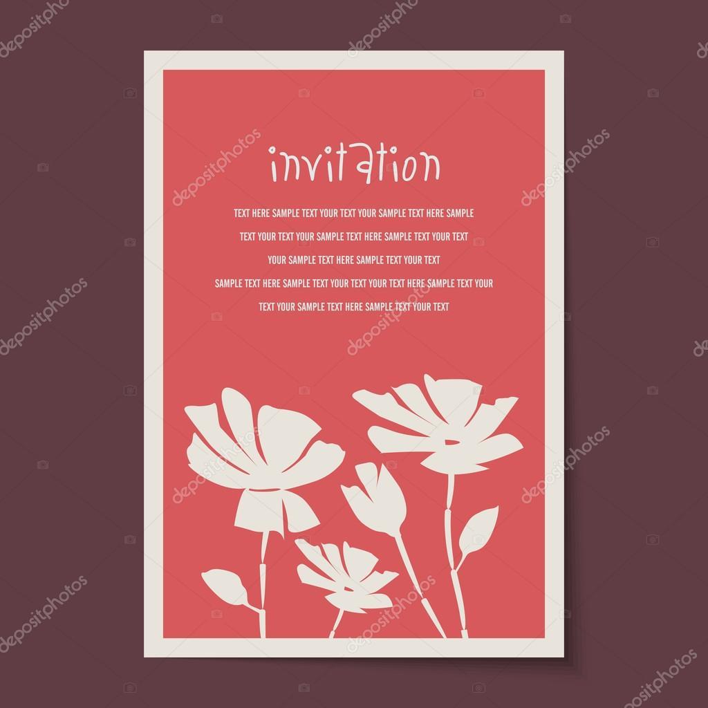 Layout de carto de convite vintage vetores de stock arrtfoto layout de carto de convite vintage vetores de stock stopboris Images