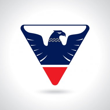 Graceful soaring eagle logo