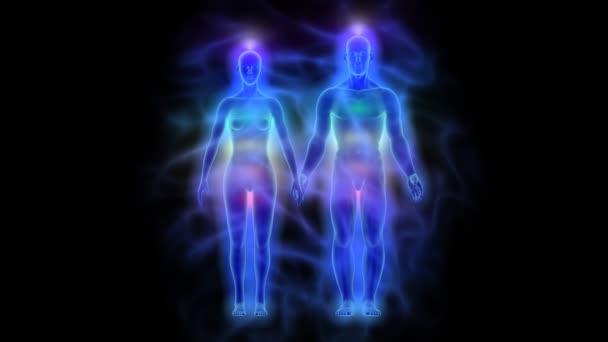 Léčení energií, aury a čaker - žena a muž